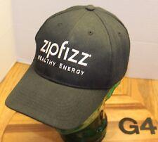 ZIPFIZZ HEALTH ENERGY DRINK HAT BLACK EMBROIDERED STRAPBACK ADJUSTABLE VGC G4