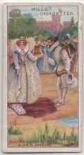 Queen Elizabeth Uses Sir Walter Raleigh's Coat 100+ Y/O Ad Trade Card