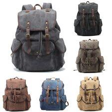 Men Women Vintage Shoulder Backpack Travelling Hiking School Bag Canvas Rucksack