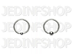 BCR Hoop Ball Closure Ring CBR   1.2mm (16g) - 14mm   Stainless Steel