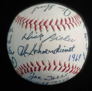 1969 St. Louis Cardinals Team Signed Facsimile Autographed Baseball Auto Gibson