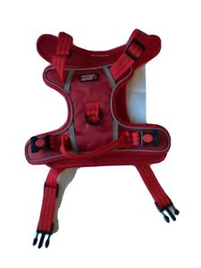 Kong Control Harness  Reflective Stitching in Red Size Large up to 41KG - New