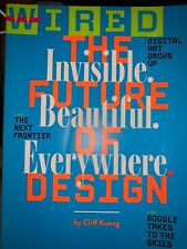 Wired Magazine September 2013 Future of Design Invisible Beautiful Everywher
