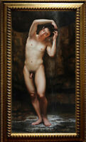 """Original Oil Painting art gay young male nude  on canvas 24""""X40"""""""