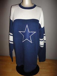 Vintage DALLAS COWBOYS Blue & White STARTER TRIUMPH Sweatshirt Adult Medium NEW