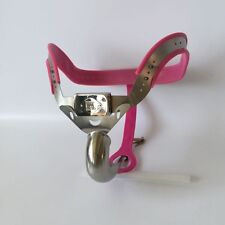Full Male Chastity Belt Device Stainless Steel high hip pink new 2017 65-110cms