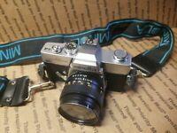 Vintage Minolta SRT 202 Camera 28mm f1.2.8 Lens Japan (Read Please) UNTESTED