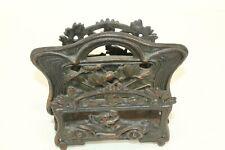 Vintage Automobile Collectible Cast Iron Desktop Letter Holder Bronze Finish
