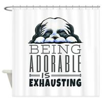 CafePress Adorable Shih Tzu Shower Curtain (1338361372)