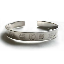 925 Sterling Silver Feature Hallmarked Men's Torque Bangle Solid Heavy 28.5g UK
