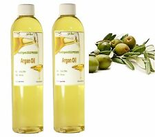 Pure Virgin Moroccan Argan Oil Organic Cold Pressed NATURAL FOR HAIR SKIN 2 Oz
