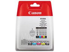 Genuino Original Canon cli-571 cymbk + pgi-570 PGBK para Pixma mg-5750 mg-7700