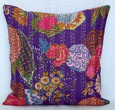 """Floral 16"""" Baumwolle Kissenbezug Indische handgemachte Kissen 40x40 cm"""