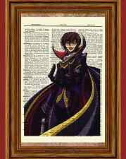 Zero Code Geass Lelouch Dictionary Art Print Poster Picture Anime Manga Figure