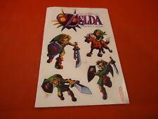 The Legend of Zelda Majora's Mask Nintendo 64 N64 Promotional Sticker Sheet