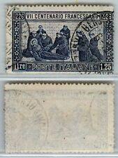 REGNO - 1926 - 1,25L S. Francesco (196) dent. 14 - annullo originale - U