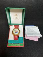 The Melody Mickey Christmas Watch - Lorus Quartz With Box and Papers New