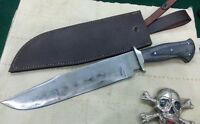 Custom Handmade Knife king,s Differential Hardened Bowie with leather sheath