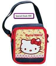 3 teiliges Hello Kitty Set / Kindergarten Tasche + Notizbuch + Schlüsselanhänger