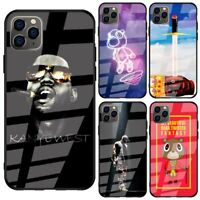 Kanye West Tempered Glass Back Case for iPhone 11 Pro Xr X XS Max 6 6s 7 8 Plus