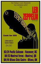 Led Zeppelin 1970   CONCERT POSTER  Canada Tour