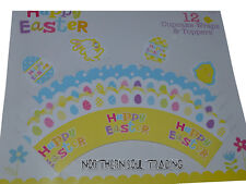 EASTER CUPCAKE WRAPS & TOPPERS *12 PIECE RETAIL SEALED PACK*