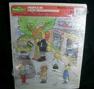VINTAGE 1988 PEOPLE IN NEIGHBORHOOD SESAME STREET PUZZLE 100% BERT ERNIE OSCAR