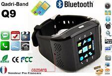 Montre Téléphone Ecran Tactile Camera Débloqué Bluetooth MP3 Dual SIM * Q9 Noir