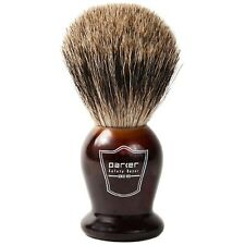 Deluxe Parker Tortoise Handle Handmade Pure Badger Shaving Brush With Drip Stand