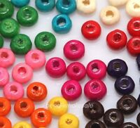 1000pcs Wholesale Mixed Colour Wooden Seed Beads Spacer Beads 4mm you pick!