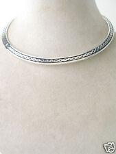 Silver Collar /  Silver tone Choker double