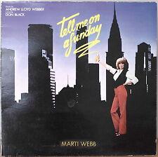 ANDREW LLOYD WEBBER: Tell Me on a Sunday-M1979LP U.K. IMPORT ARGENT/Marti Webb