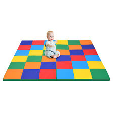 "58"" Toddler Foam Play Mat Baby Folding Activity Floor Mat Home School Daycare"