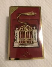 2002 Lenox Annual Ornament First Year in the New Home Garden/Front Gate in box