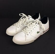 Lacoste Newsome White Sneaker Mens 11.5 US 10.5 UK 45 EU Alligator Logo