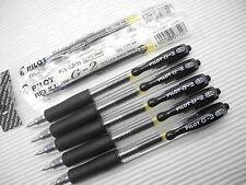 5 pen +  2 refill Pilot G-2 0.38mm ultra fine roller ball pen Black(Japan)