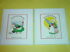 2 Becassine Framed Pictures at the sea beach fishing French poster