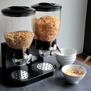 LÖWENTHAL® Müslispender Doppel (2x 3,5L) Cornflakes Cerealien Müsli Spender Dose