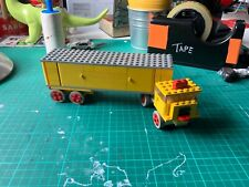 Lego Transport Truck 335 Vintage Lorry Yellow Red Articulated Transport Rare