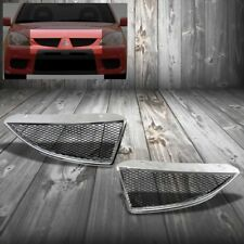 Chrome Frame/Black Mesh Ralliart Style Replacement Grille For 04-05 Lancer SOHC