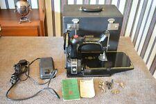 SINGER 221 FEATHERWEIGHT #AK750617 SEWING MACHINE CENTENNIAL 1851-1951 IN CASE