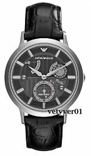 EMPORIO ARMANI Meccanico RENATO Automatic Steel-Black Alligator Leather AR4664