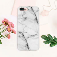 White Plastic iPhone 6s Case Marble iPhone 8 Plus Protective Cover iPhone 7 Skin