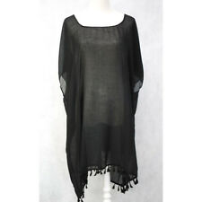Large Lace Cotton Women Summer Kaftan Top Beach Boho Dress Free Size