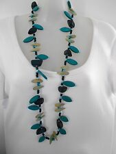 CLEARANCE Blue Wooden necklace was $18 NOW $10