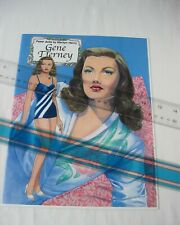 Gene Tierney Paper Dolls by Marilyn Henry 2002 / Movie Fashions / Hand Signed