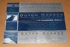 Dutch Harbor Where the Sea Breaks Boxhead Ensemble Poster Promo 22x17 RARE