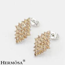 75% OFF Genuine 925 Sterling Silver Xmas Gifts Gemstone Morganite Earrings