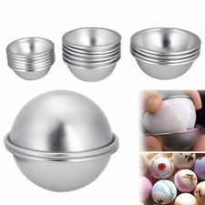 16 pcs 8 Set DIY Mold Sphere Metal Bath Bomb Fizzy Crafting Cake Candle Mould