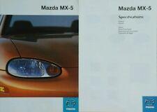 Mazda MX5 Sales Brochure & Spec Guide - July 1998